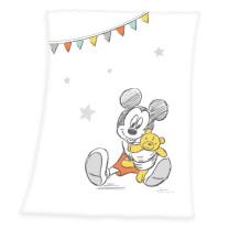 Herding Disney Mickey Soft-Peachdecke 75x100cm