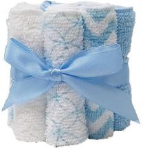 HÜTTE 12er Pack Waschtücher Weiß/Blau