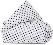 babybay Nestchen Weiß Sterne Blau