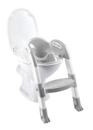 Kiddyloo Toiletten-Trainer grau/weiß