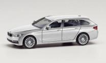 Herpa 430708-002 BMW 5er Touring glaciersilber