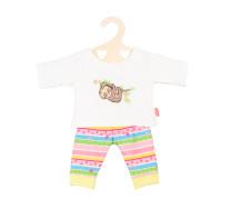 Heless Puppen-Pyjama Faultier Flauschi Gr. 35-45cm