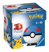 Ravensburger Puzzle 3D Pokemon Superball 54T