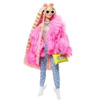 Barbie Extra Puppe blond mit flauschiger Jacke