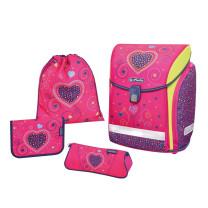 Herlitz Ranzenset 4-teilig Pink Hearts