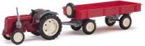 Mehlhose 210006900 H0 Traktor Famulus mit Anhänger