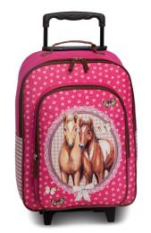 Fabrizio Kindertrolley Pferde pink