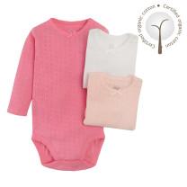 Baby Body Lang Arm 3er Pack für Mädchen