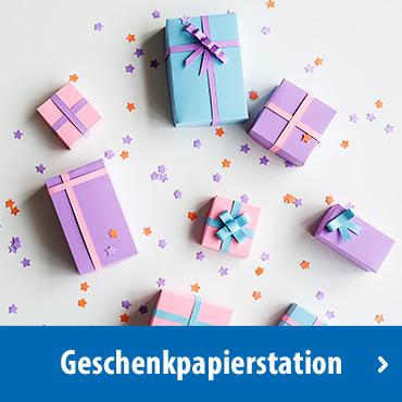 Geschenkpapierstation